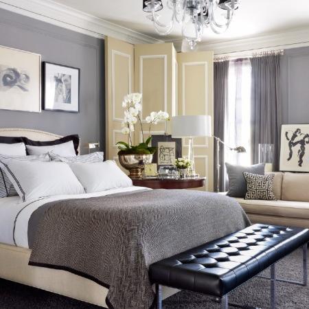 Combinacion de tonos grises con beige.. David Jimenez - Master Bedroom
