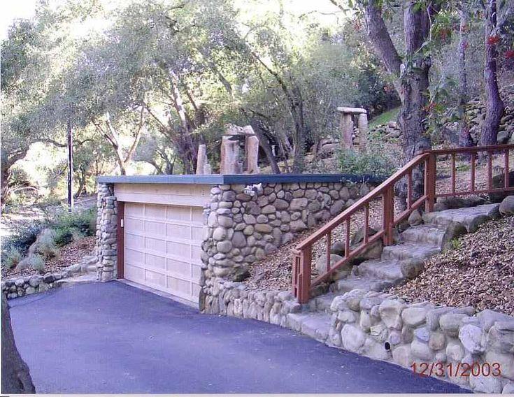 Hillside garage y a r d pinterest