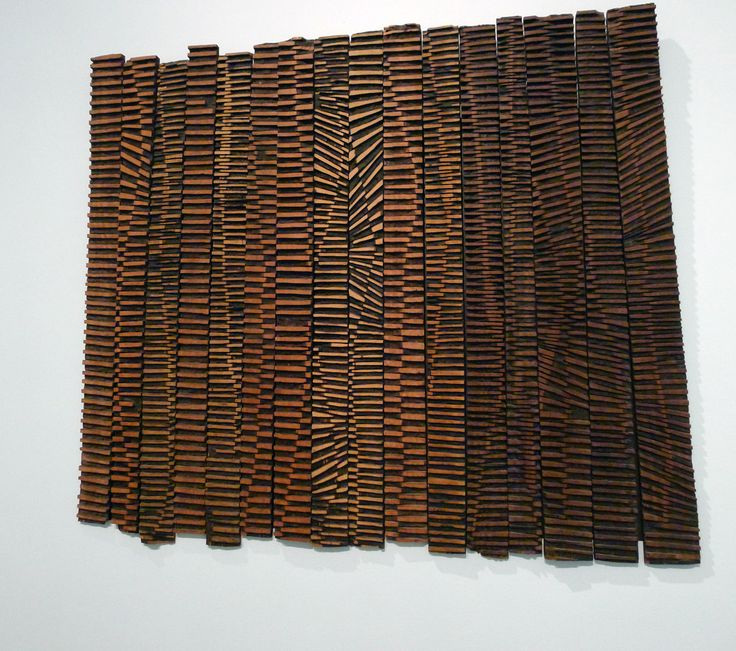 """El Anatsui at the Brooklyn Museum - """"Currents"""" in wood - Joanie Gagnon San Chirico"""