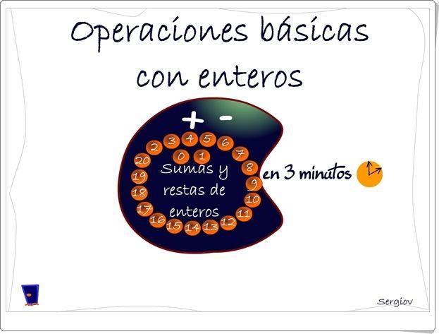 """""""Operaciones básicas con enteros en 3 minutos"""" (Juego de Matemáticas)"""