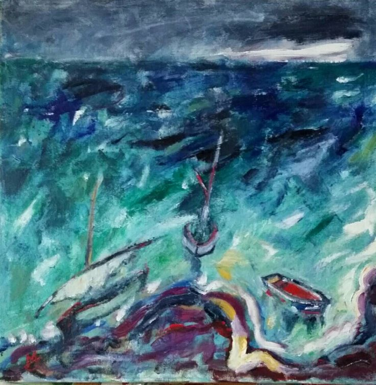 Barci/Boats, a,u/p, 50/50 cm, 2016