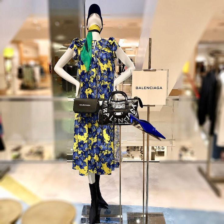 """NEIMAN MARCUS, Houston, Texas, """"Keep Looking Up"""", (That's the secret of life...), for Balenciaga, photo by Visual Department NM, pinned by Ton van der Veer"""