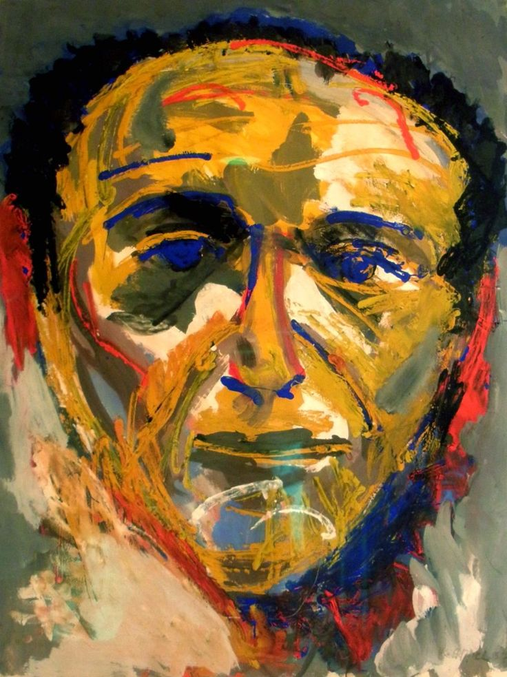 Karel Appel's Portrait of Theo Wolvecamp. Corneille, Karel Appel and Constant invited THeo to join the Dutch Experimental Group. This group merged later on into the international group of artists known as Cobra.