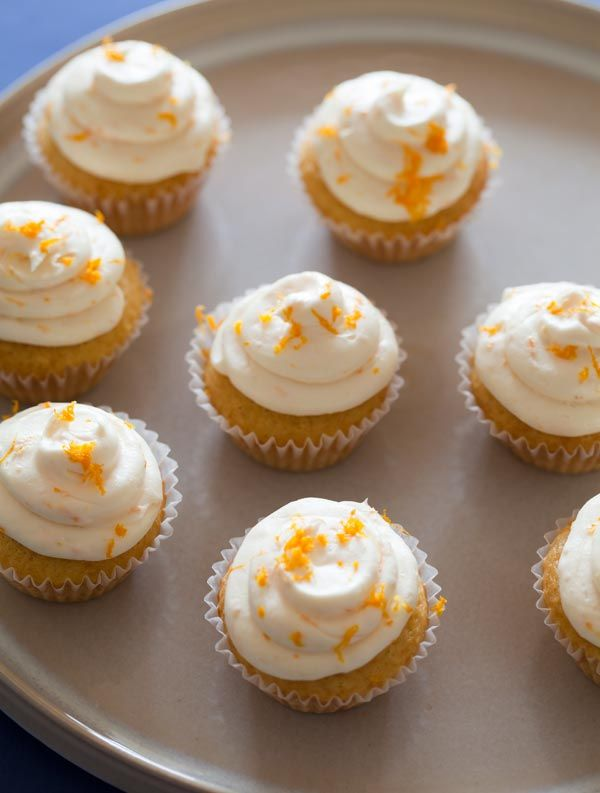 Blue Moon (the beer!) cupcakes from Spoon Fork Bacon. Look surprisingly delicious.