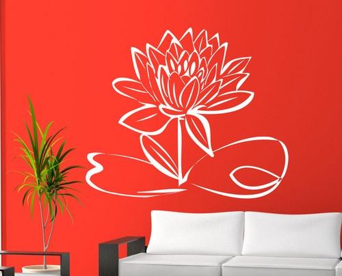 WALL ART STICKER LOTUS FLOWER VINYL DECAL FOR HOME | eBay   £11.95