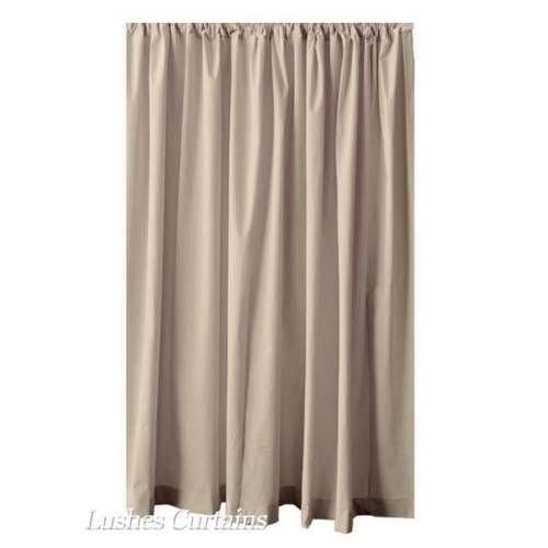 Toll 182.9cm H Beige Velours Curtain Panel W/Haut De Tige Poche Rideau