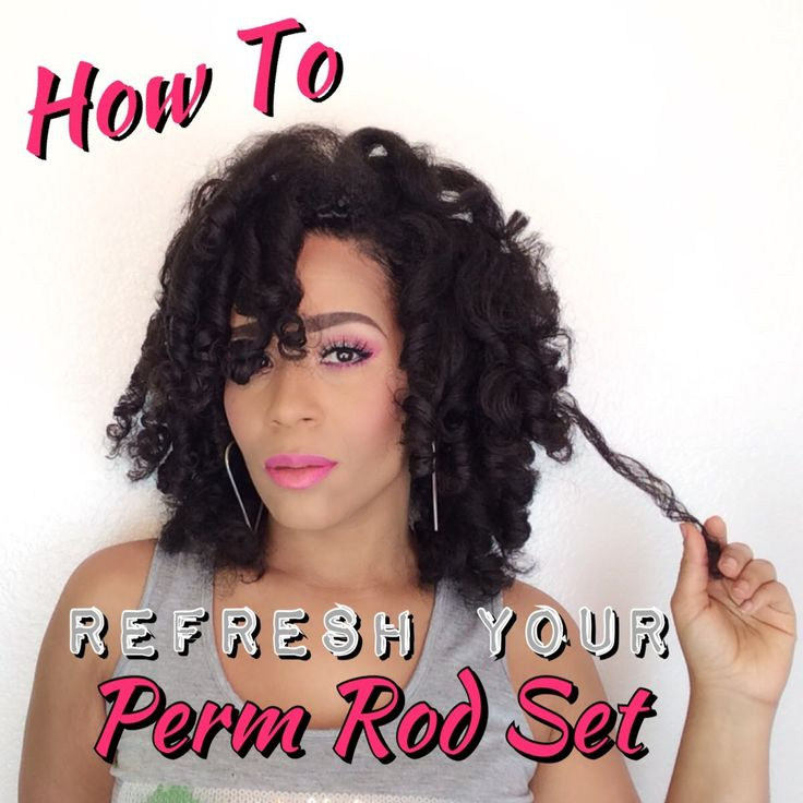 Perm Rods On Natural Hair Pinterest