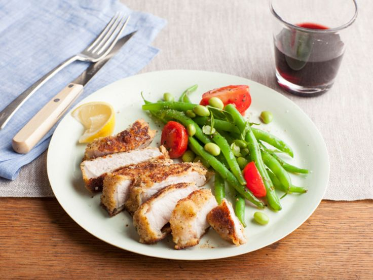 Parmesan-Crusted Pork Chops recipe from Giada De Laurentiis via Food Network