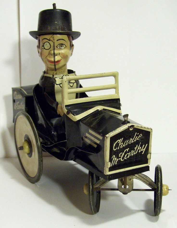 ANTIQUE MARX MAR TOYS CHARLIE McCARTHY AND EDGAR BERGEN TIN WIND UP