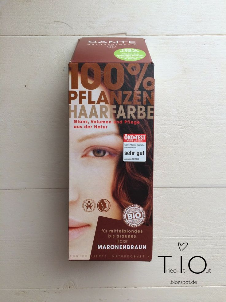 "Getestet: SANTE Pflanzenhaarfarbe Maronenbraun!  Review of the natural herbal hair colour ""chestnut brown"" by SANTE!"