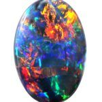 2.79ct Red Multi-Colour Solid Black Opal (086)