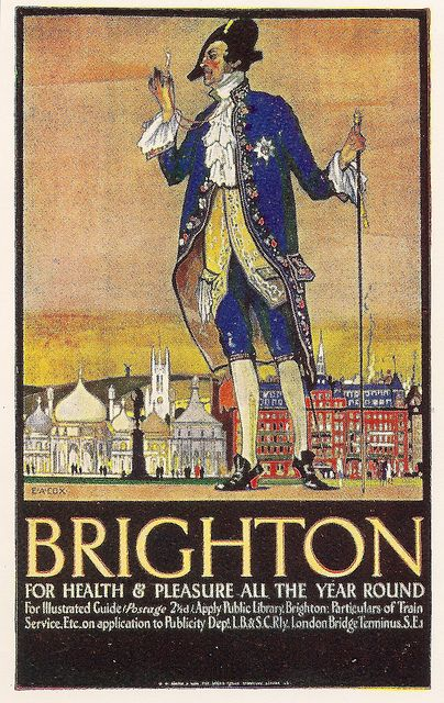 London Brighton & South Coast Railway - Brighton poster by E A Cox, 1922 by mikeyashworth, via Flickr