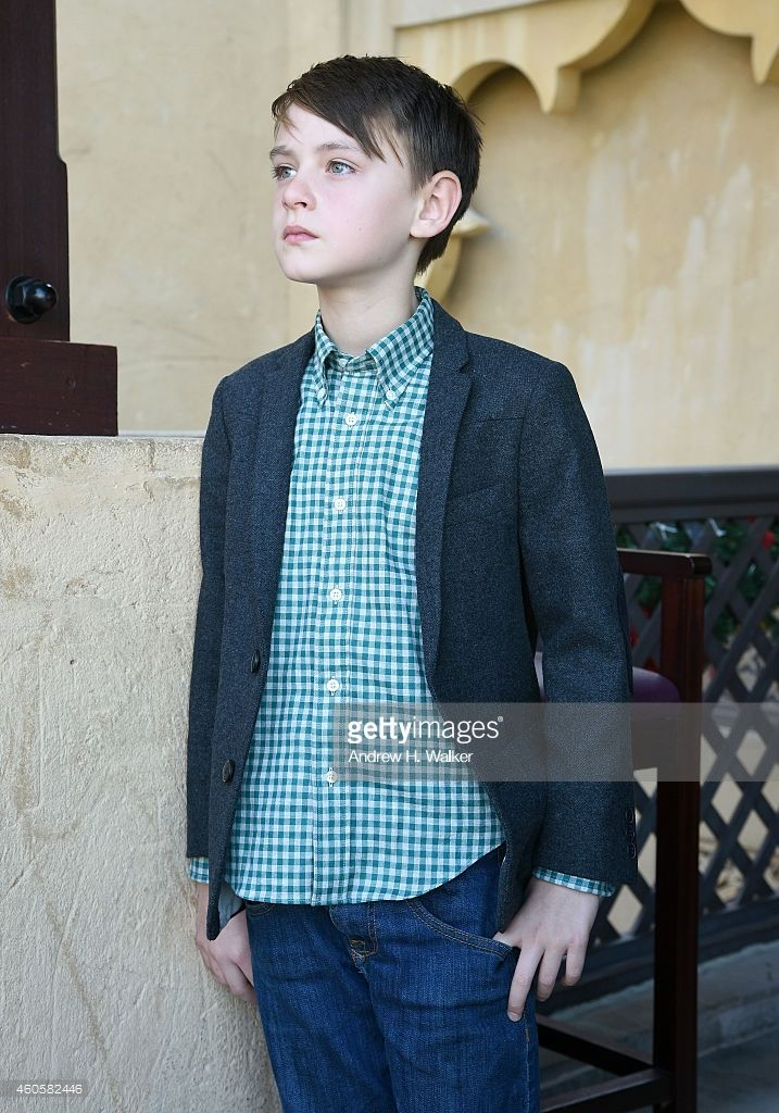 Actor Jaeden Lieberher poses during a portrait session on day eight of the 11th Annual Dubai International Film Festival held at the Madinat Jumeriah Complex on December 17, 2014 in Dubai, United Arab Emirates.