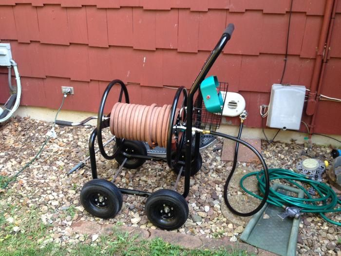 Ironton Garden Hose Reel Cart Holds 300ft X 5 8in Hose Gardens Shops And Tools