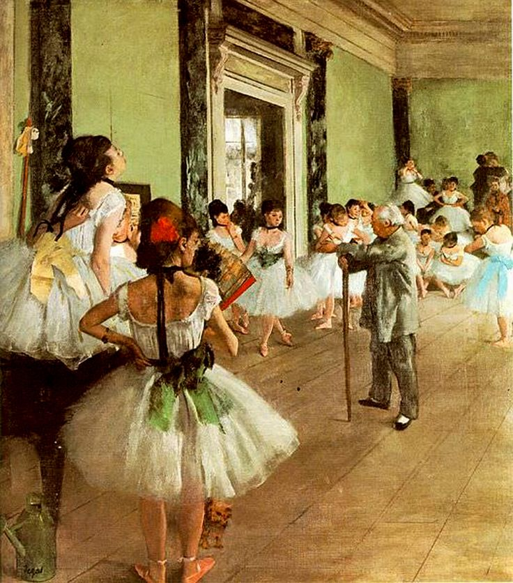 The Dance Class by Edgar Degas (French), oil on canvas