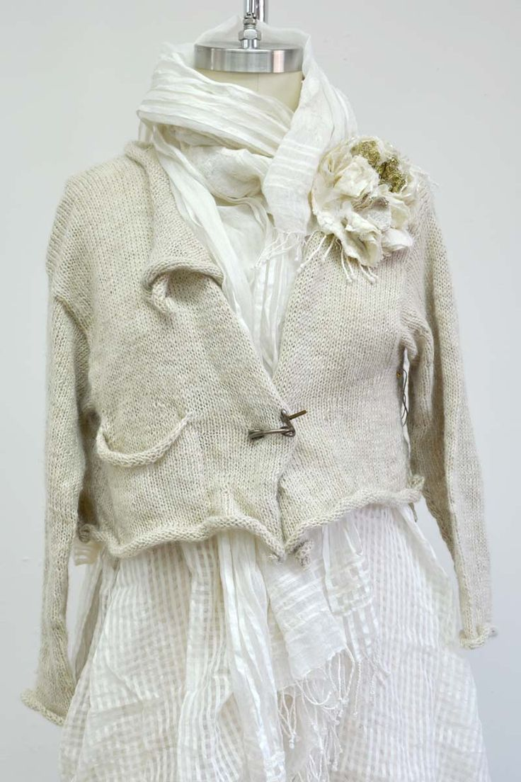 Irish Lace Cropped Cardigan