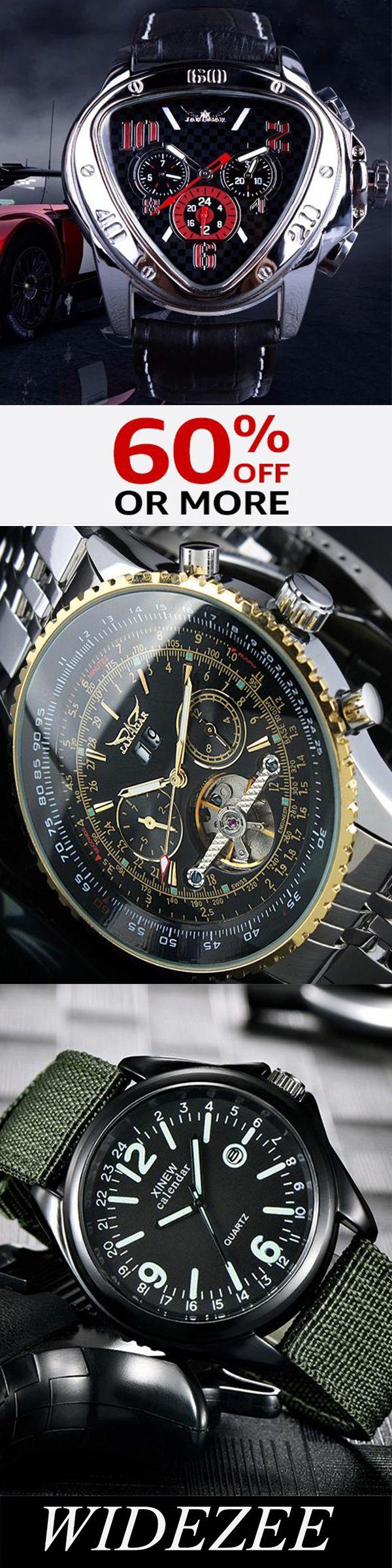 Mens calendário de discagem triangular relógio mecânico automático   – Durcheinander