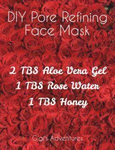 DIY 3-Ingredients Pore Refining Gel Face Mask