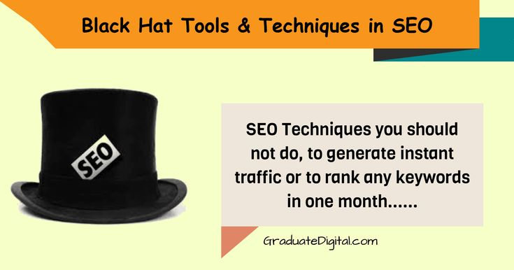 "There are two SEO Techniques named ""white hat techniques"" and ""black hat techniques"", white hat technique follows the search engine rule and improve the website performance where as black hat techniques are the methods which violates the search engine rules or …"