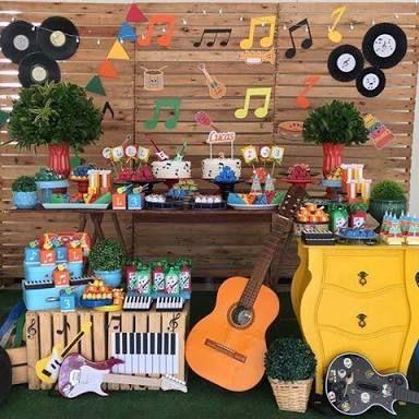Resultado de imagem para festa infantil instrumentos musicais