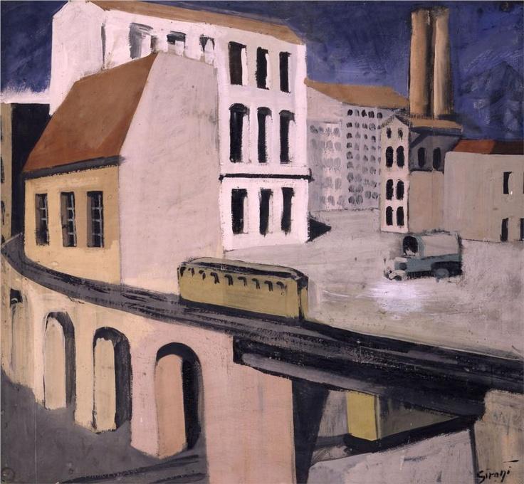 Urban landscape-Mario Sironi - by style - Metaphysical art