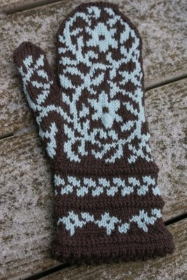 Bird in Hand Mittens - knitting this one, but need to get moving on them. See http://www.kategilbert.com/ms_birdinhand.html