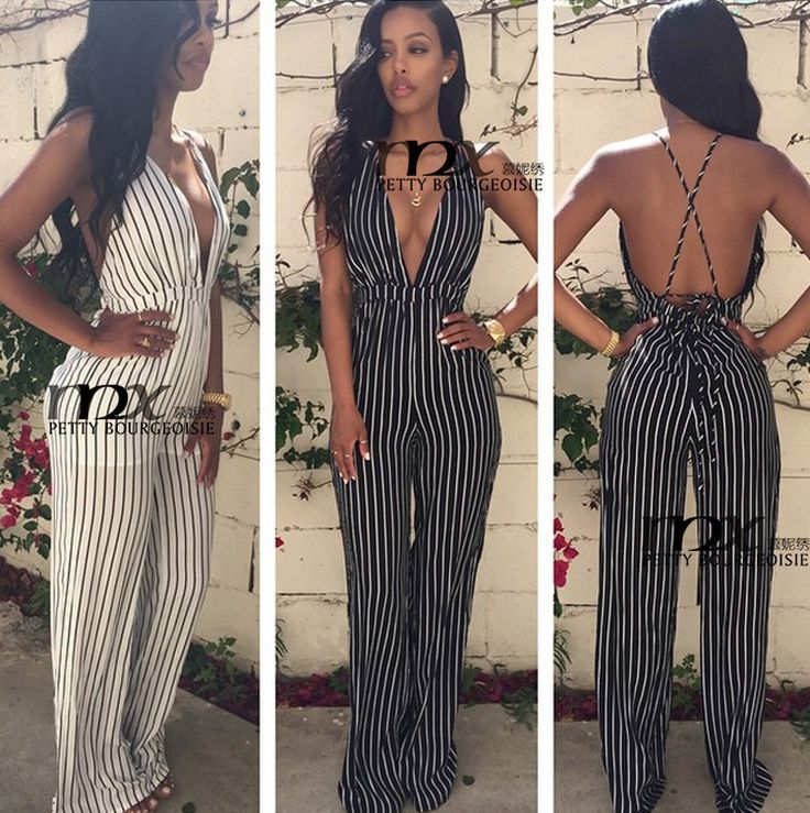 MNX Summer Style 2015 mamelucos mujer Jumpsuit Flower Print Sleevess Backless Sexy Stripe Hight Waist V neck Womens Romper Pants - http://www.aliexpress.com/item/MNX-Summer-Style-2015-mamelucos-mujer-Jumpsuit-Flower-Print-Sleevess-Backless-Sexy-Stripe-Hight-Waist-V-neck-Womens-Romper-Pants/32368429129.html