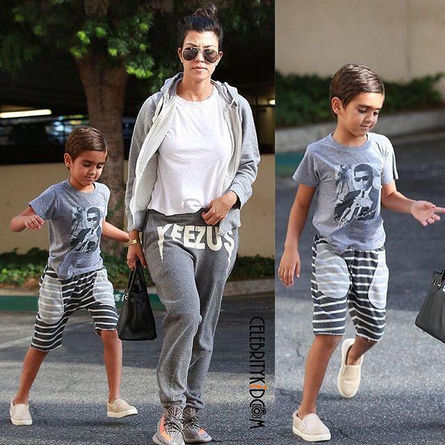 Kourtney Kardashian spotted running errands with Mason Disick. #kourtneykardashian #masondisick #celebritykids #celebritymom #instafashionkids #fashionkids #kidsfashion #celebritykidcam @kourtneykardash