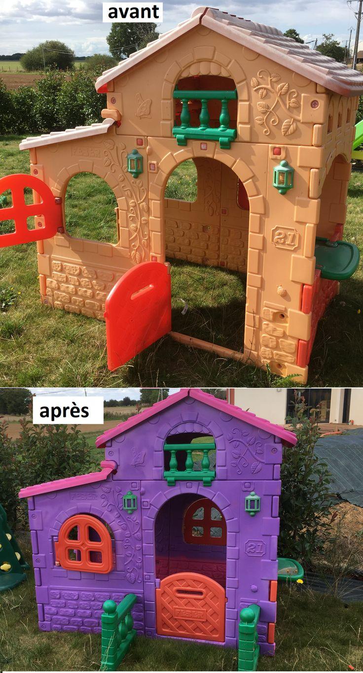 Rénover une maisonnette en plastique - Maman Binaire