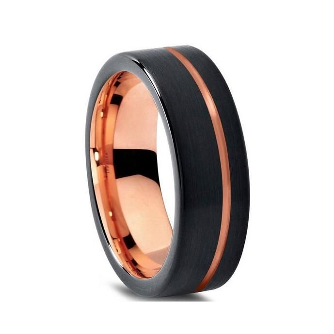 Image Result For Dark Navy Rose Gold Wedding Mens Wedding Rings Mens Black Ring Vintage Gold Rings