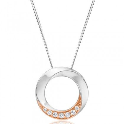 Pretty in pink! Pink Argyle diamond Circle Pendant in 18ct Gold with Chain.