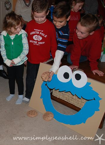 Cookie Monster Birthday Party Cookie Toss Game