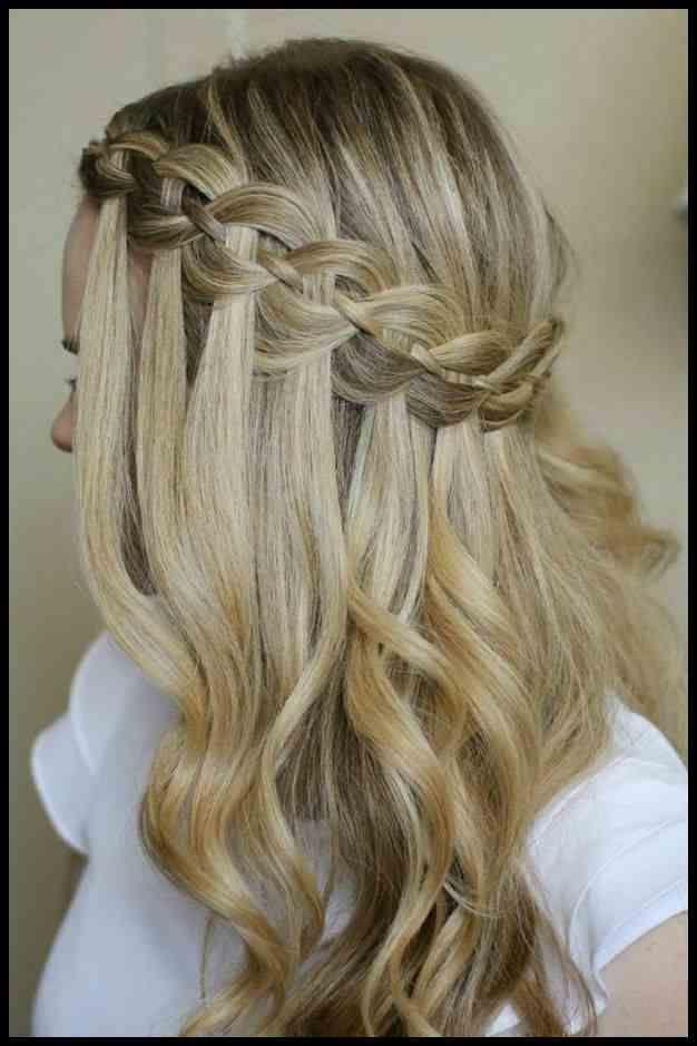 Flechtfrisuren Lange Haare Wasserfall Frisuren Pinterest Geflochtene Frisuren Flechtfrisur Lange Haare Flechtfrisuren