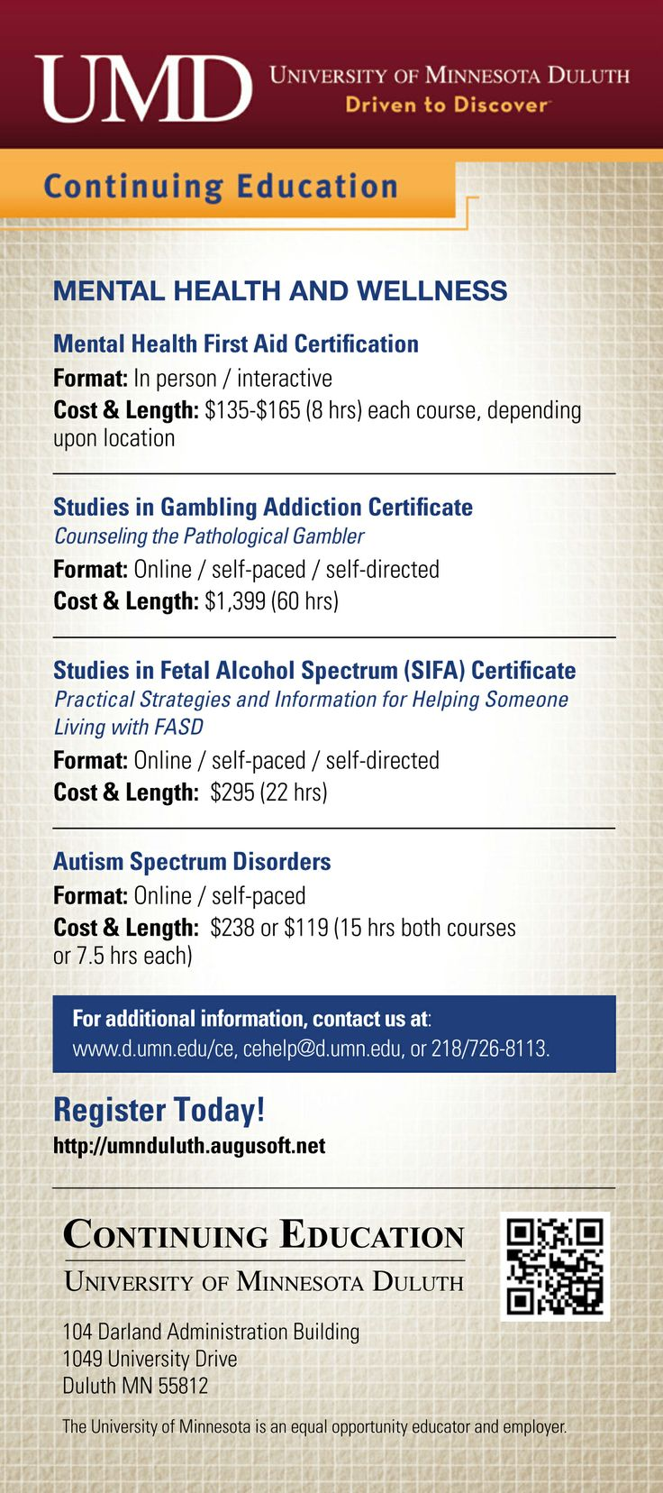 11 best university of minnesota duluth continuing education courses mental health wellness courses 1betcityfo Gallery