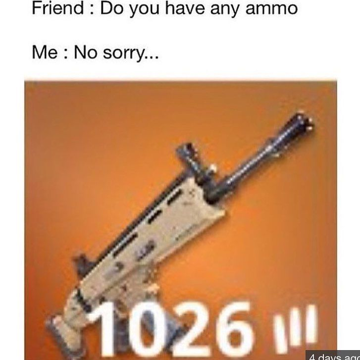Ahahah no SPARE ammo?!?! #fortnite #fortnitebr #battle #royale #victoryroyale #ps4 #games #xbox #pc #fortnitememes #win #scar #sniper #bush #vr #solos #squads #duos #season3 #emotes #dances #tier100 #vbucks #epicgames #youtube #twitch #storm #health