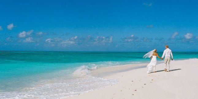 Beach wedding image, stunning colours.