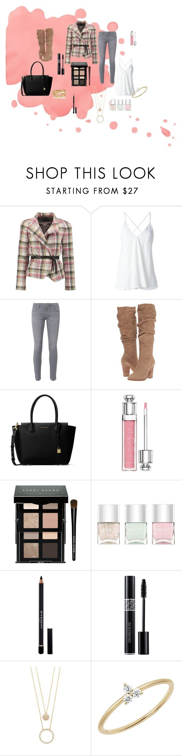 """""""Fancy Casual"""" by designed-by-me ❤ liked on Polyvore featuring Isabel Marant, Dondup, AG Adriano Goldschmied, Steve Madden, MICHAEL Michael Kors, Christian Dior, Bobbi Brown Cosmetics, Nails Inc., Givenchy and Kate Spade"""