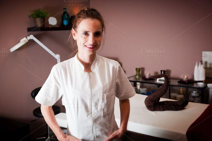 Beautician in her beauty salon by Photocreo Michal Bednarek on Creative Market