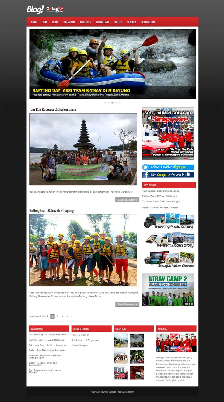 Official blog with responsive design for Golagoo Indonesia.