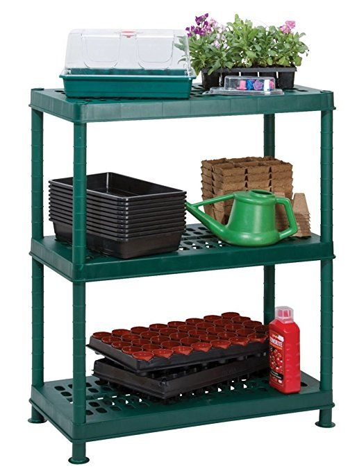 Garland Self Assembly Greenhouse Ventilated Plastic Shelving #G08143GR