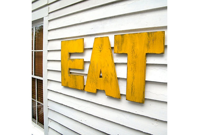One Kings Lane - The Whimsical Wall - Eat Letters Uppercase Set