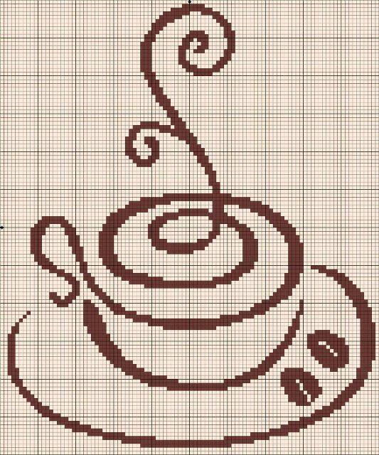 Кофейные мотивы: вышивка. Большая подборка схем | Домохозяйка