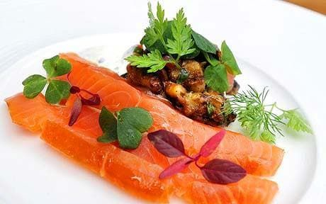 Tom Kitchin recipe: spiced aubergine with Scottish smoked salmon