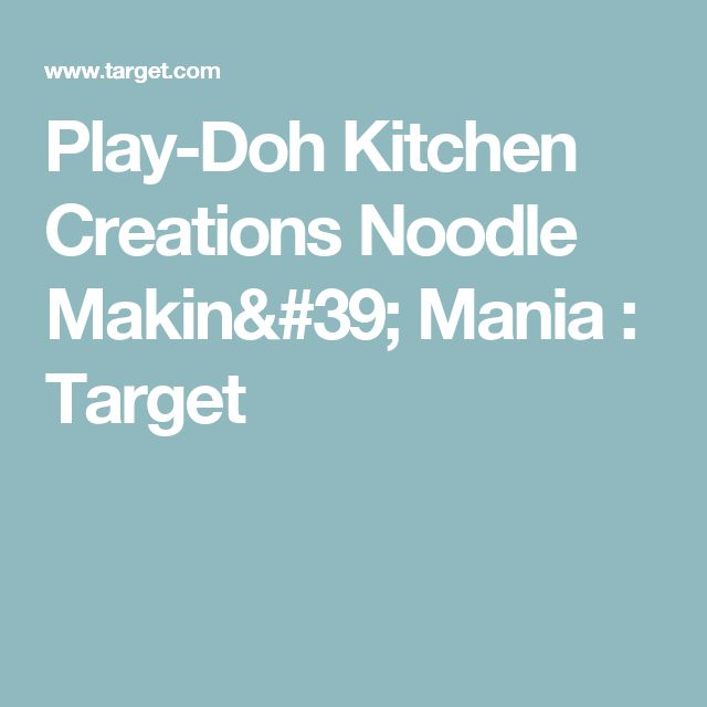 Play-Doh Kitchen Creations Noodle Makin' Mania : Target