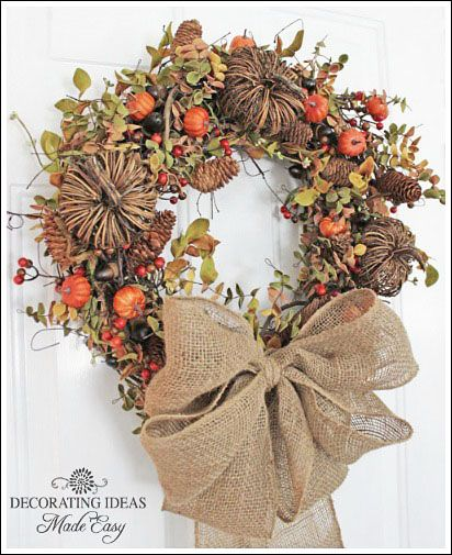 Nothing says fall like burlap, pinecones, and acorns.