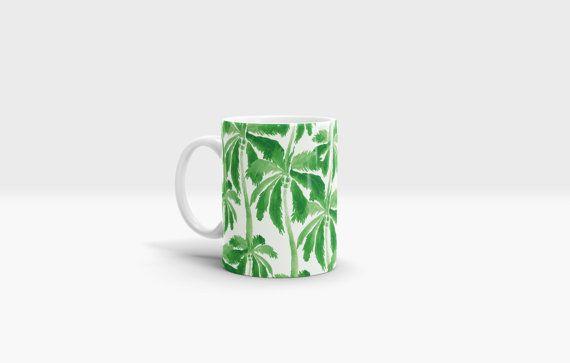 Palm Trees Mug. 11oz Ceramic Mug. by NJsBoutiqueCo on Etsy