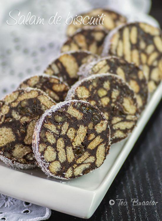 Salam de biscuiti, o prajitura foarte cunoscuta ce ne aduce aminte de dulciurile copilariei, fieful incepatorilor si al mamelor ocupate