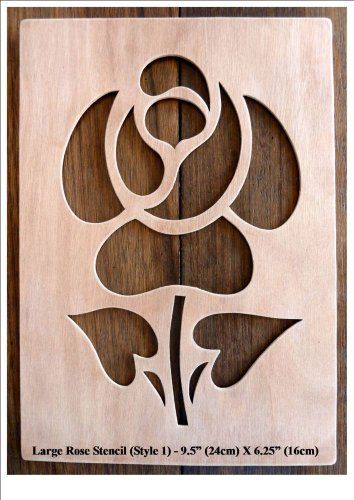 """Beautiful Large Sized Hand Crafted MDF 'Rose' Drawing Template / Stencil - 9.75"""" X 6.25"""" (Style 1) by Greg Ledder http://www.amazon.co.uk/dp/B00KD4CZ5G/ref=cm_sw_r_pi_dp_hgLjvb11AW5JE"""