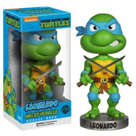 Funko Wacky Wobbler: Teenage Mutant Ninja Turtles - Leonardo, Green