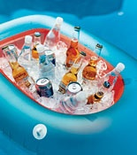 Fantastic Tips On Throwing A Pool Party Like Using An Inflatable Boat As Cooler